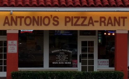 Antonio's Pizza Rant Davie Florida Location